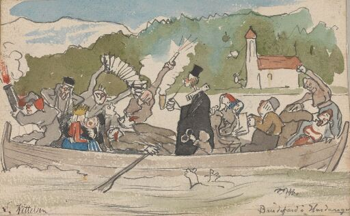 Parody of Bridal Procession on the Hardangerfjord