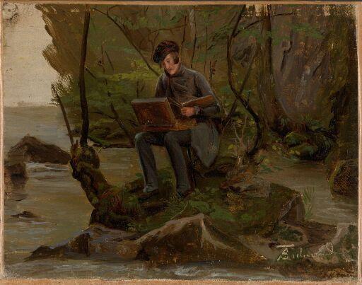 A Painter at his Paint Box
