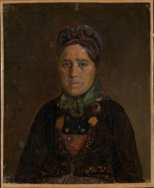 Portrait of Ingeborg Skjønne from Numedal