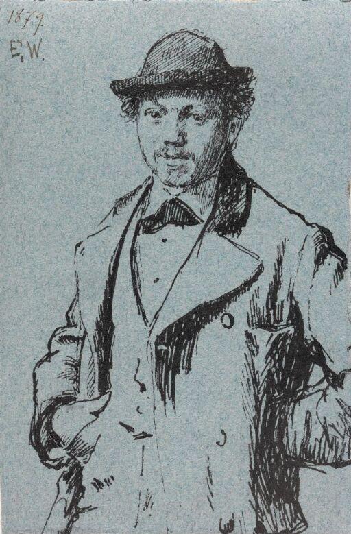 Mann med hatt og hendene i lommen