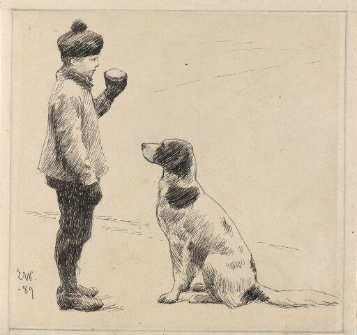Gutt og hund