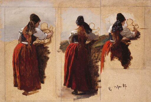 Studies of a Woman from Rügen