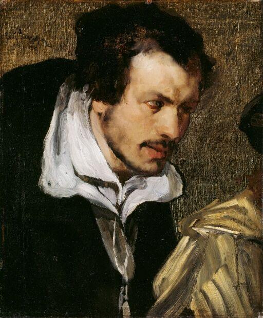 """Didrik Slagheck. (Portrettstudie til """"Christian II undertegner dødsdommen over Torben Oxe"""")"""