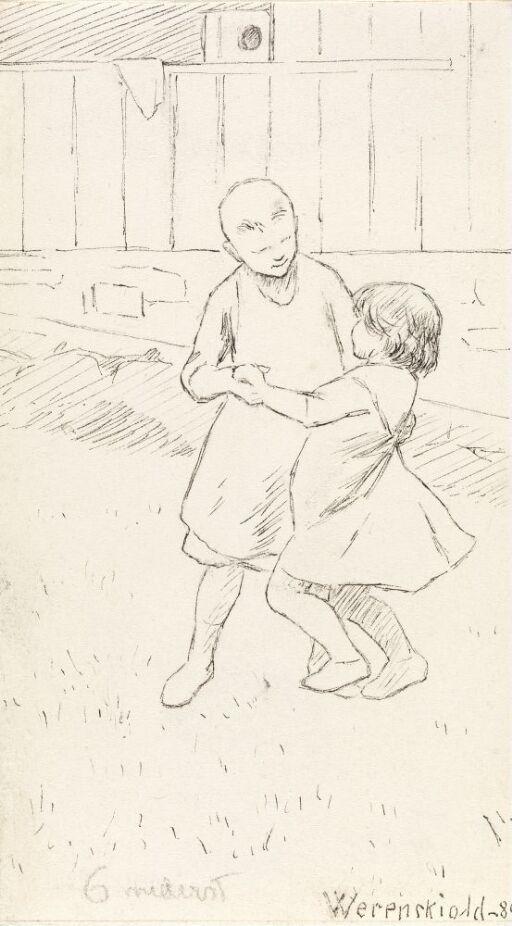 To barn som danser