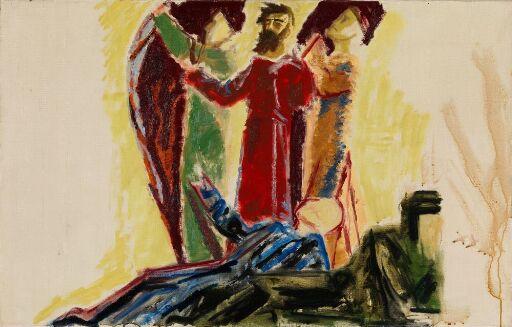 Apostelen Paulus og profeter. Utkast til altertavlen i Linköping domkirke