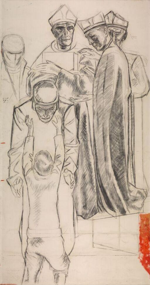 Olaus Petri og gutten. Utkast til altertavlen i Linköping domkirke