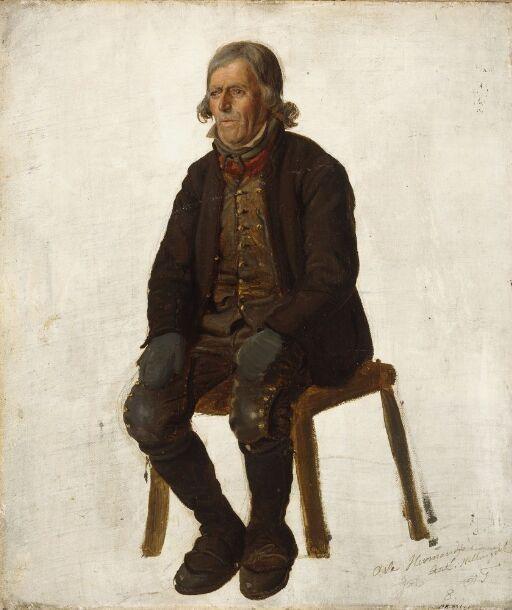 Portrait of Asle Hermandsøn from Hallingdal