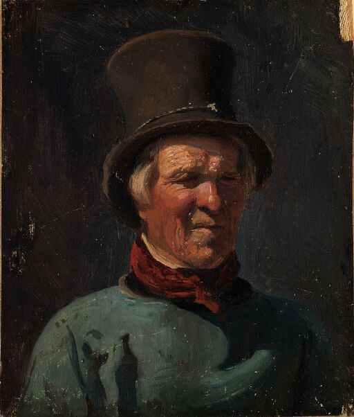 Brystbilde av mann med hatt