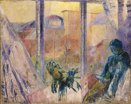 Gudrun og Agnes ved vinduet