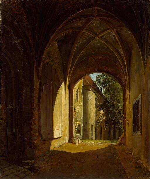 A vaulted Hall in the Scharfenberg Castle near Dresden