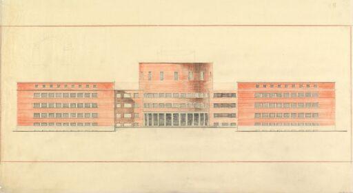 Fysisk og kjemisk institutt på Blindern. Fasade