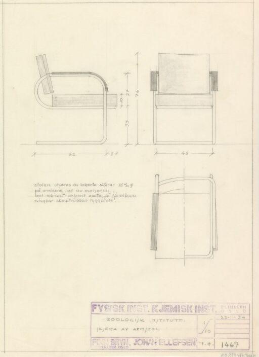 Armstol til Fysisk og Kjemisk institutt