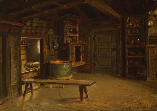 Farm Interior from Gulsvik in Hallingdal