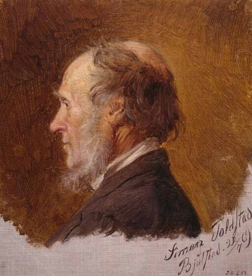 Simon Toldstad. Portrettstudie