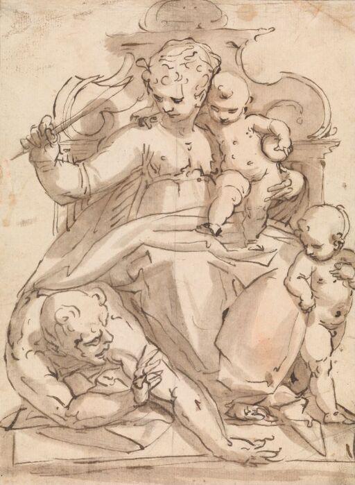 Maria med Jesusbarnet og Johannes