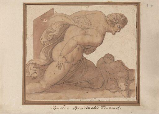 Man kneeling over a little child