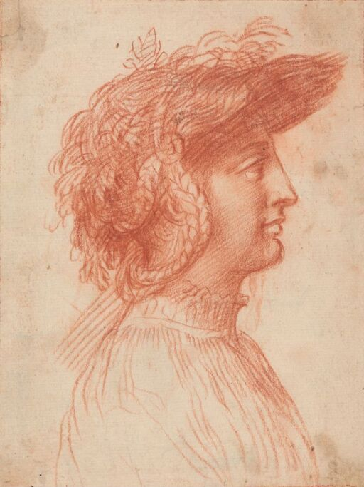 Ung mann med hatt i profil