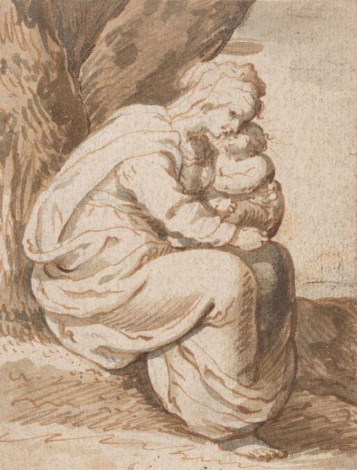 The Virgin embracing the Child
