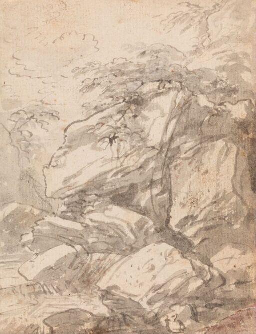 Landskap med stener