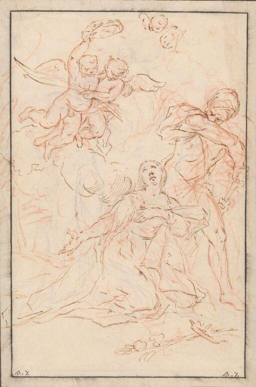 Den hellige Agnes' martyrium