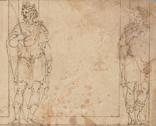 To figurer i romersk drakt