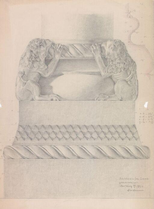 Søylebase fra Landgreveværelset på Wartburg