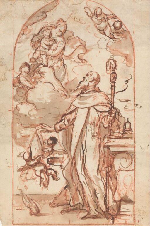 Madonna med Jesusbarnet åpenbarer seg for en biskop