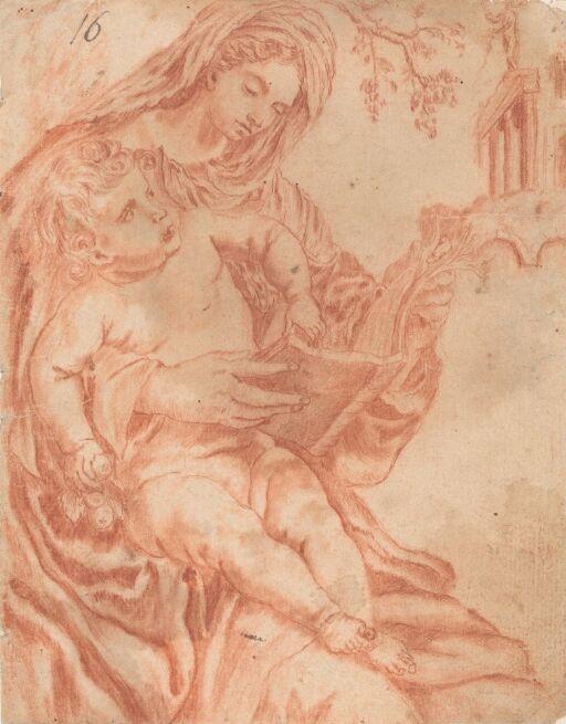 Lesende Madonna med Jesusbarnet