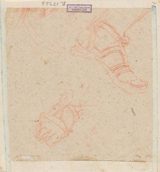 Studier av fot med sandal