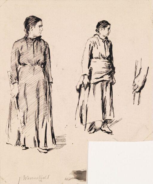 To stående kvinner
