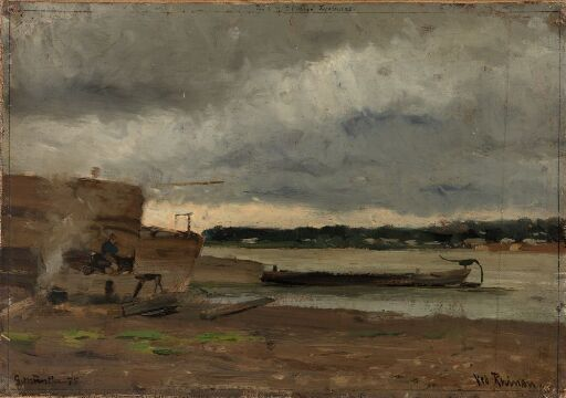 Rhinen ved Düsseldorf
