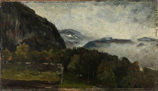 Landscape at Øylo in Mist