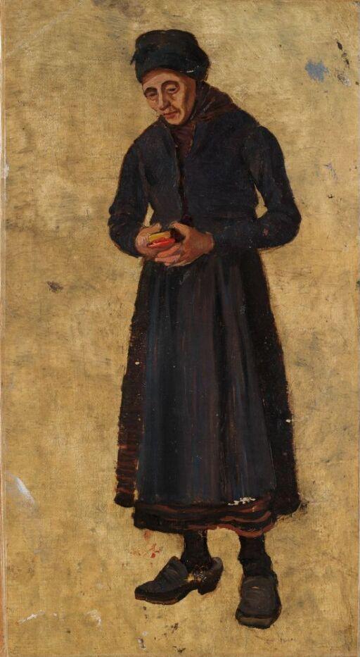 Kvinne med salmebok