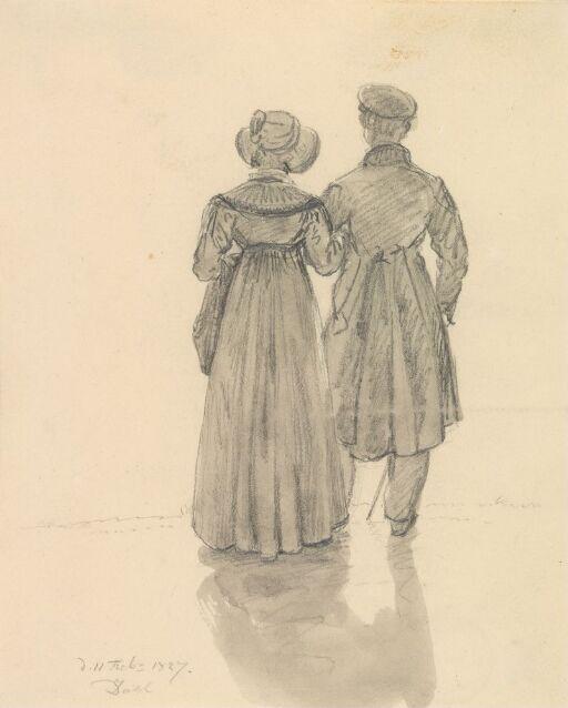 Ryggvendt mann og kvinne