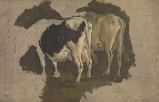 Study of two Cows, seen from behind