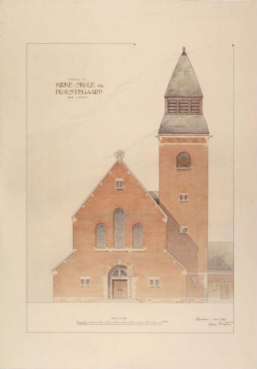 Kirke-skole og prestegaard