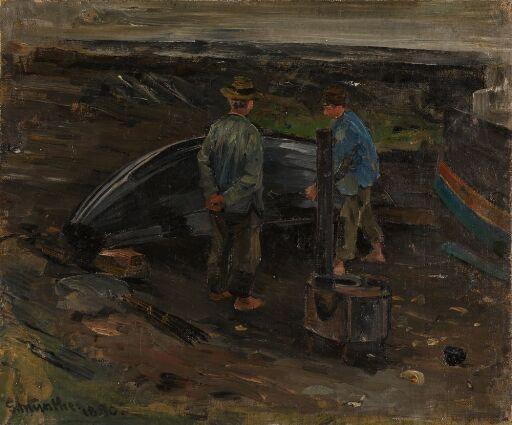 Boys taring a Boat, Nevlunghavn