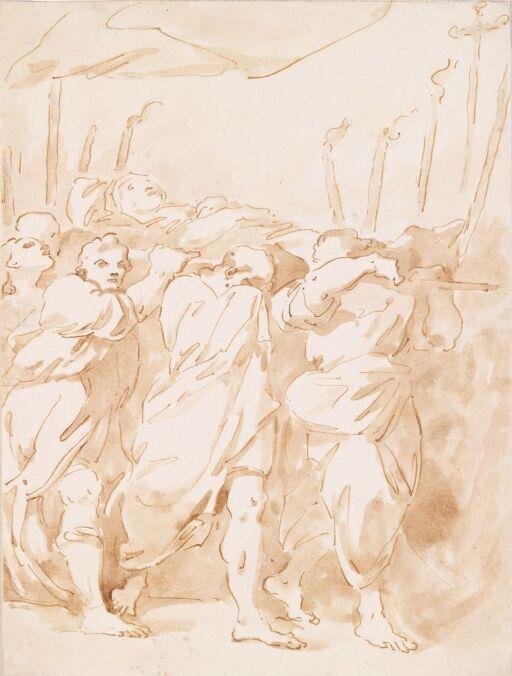 Apostlene bærer Maria til graven