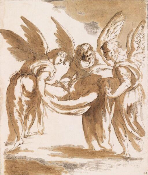 Engler bærer den hellige Cecilia til graven