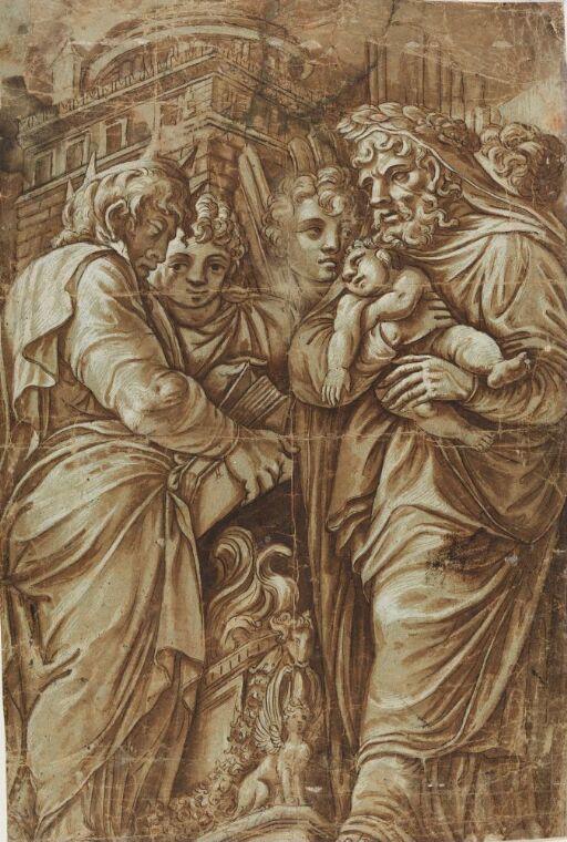 Jesus fremvises i templet
