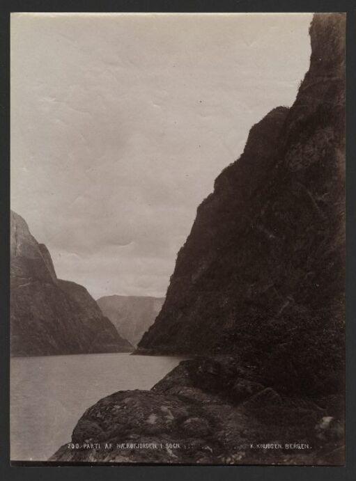 Parti af Nærøfjorden i Sogn