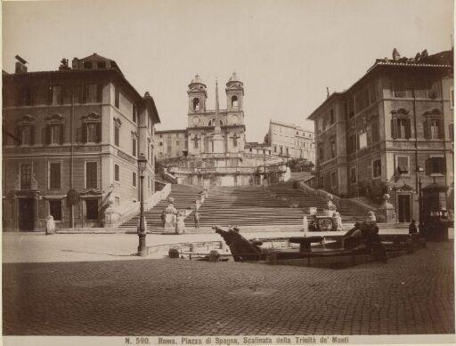 Roma. Piazza di Spagna, Scalinata della Trinita de' Monti