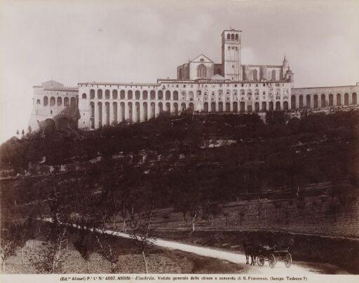 Assisi - Umbria. Veduta generale delle chiese e convento di S. Francesco (Iacopo Tedesco ?)