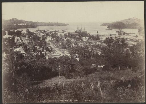 Port Castries and Harbour, St. Lucia