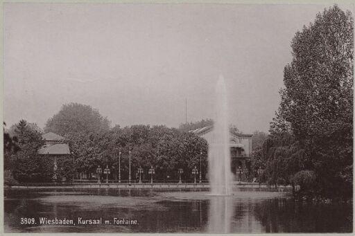 Wiesbaden, Kursaal m. Fontaine