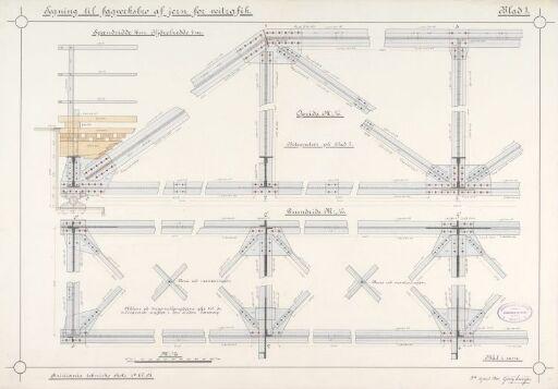 Fagverksbro av jern for veitrafikk