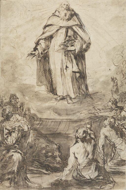 The apparition of a saint