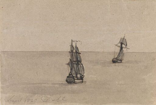 Two Sailing Ships in the Bay of Naples