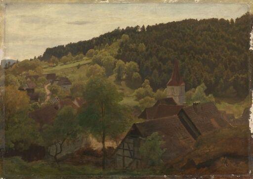 Landskap fra Ebersteinburg i Baden