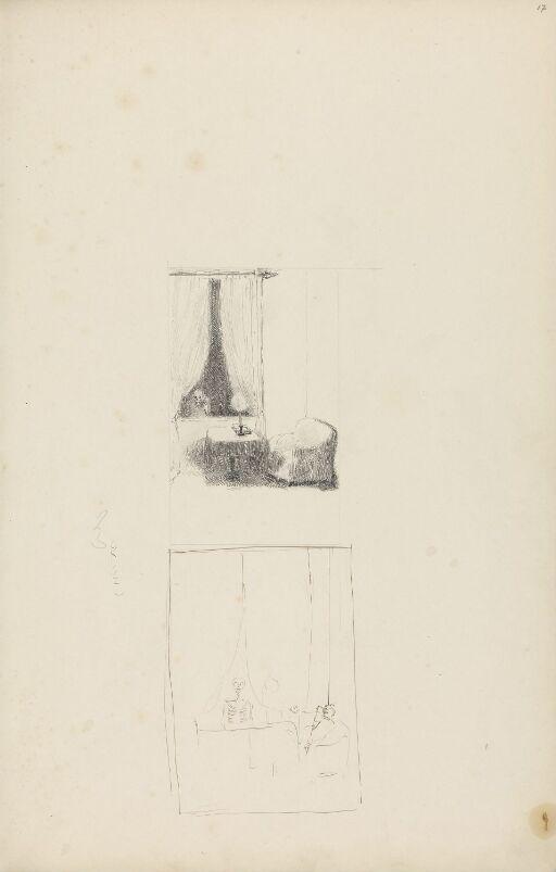 Skjelett i vindu